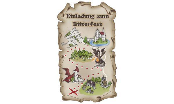... SUSY CARD Einladungskarten Kindergeburtstag Ritter Max