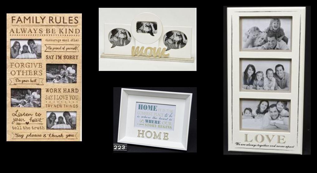 Bilderrahmen Holzrahmen Fotorahmen Familie Galerie Vintage aus Holz ...