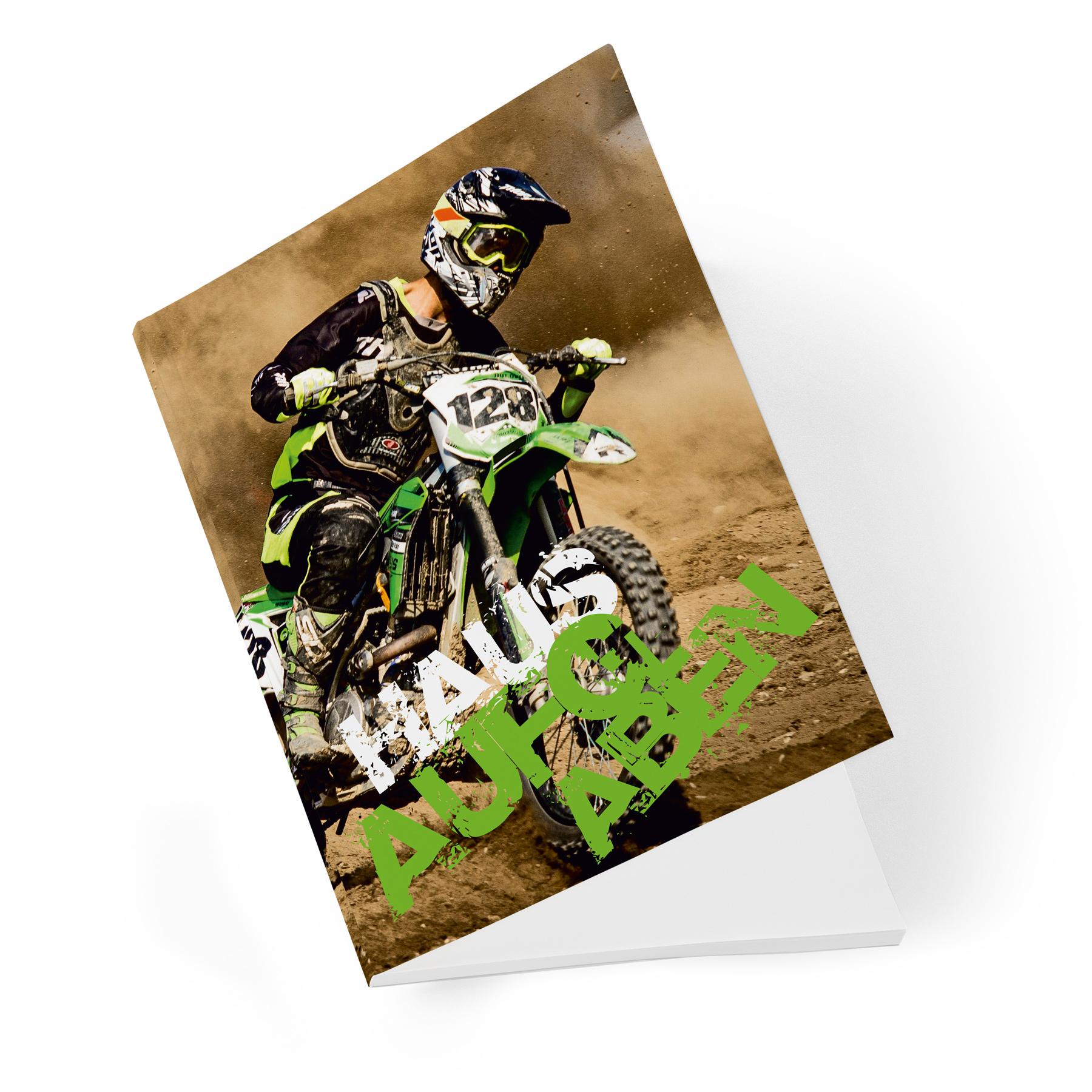 itenga Hausaufgabenheft Motocross A5 96 Seiten Stundenplan Schulkalender Noten